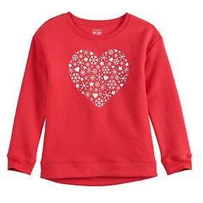 Girls 4-12 Jumping Beans® Holiday Fleece Sweatshirt