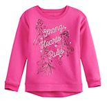 Disney Princesses Girls 4-12 Glittery Fleece Sweatshirt by Jumping Beans®