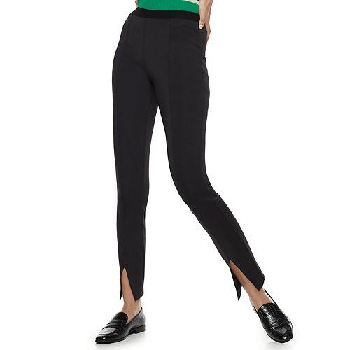 Women's Nine West Pull-On High-Waisted Skinny Scuba Pants