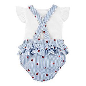 Baby Girl Carter's Tee & Ladybug Sunsuit Coverall Set