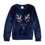 Girls 4-12 Jumping Beans® Graphic Plush Sweatshirt