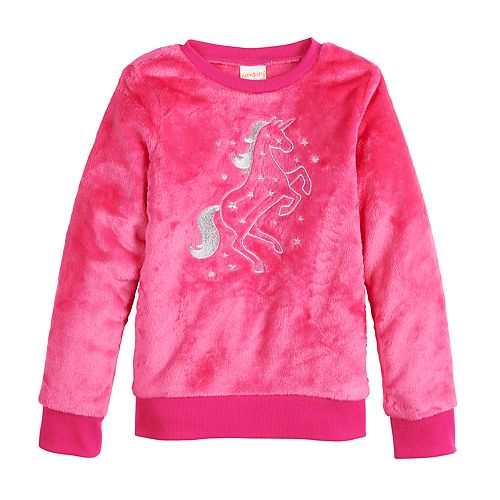 Girls 4-12 Jumping Beans® Graphic Plush Sweatshirt
