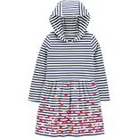 Toddler Girl Carter's Heart Hooded Dress