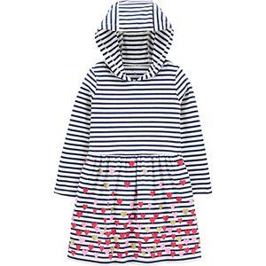 Toddler Girl Carter's Heart Hooded Dress