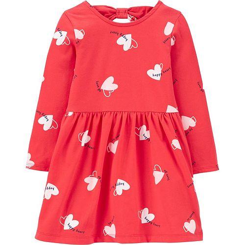 Toddler Girl Carter's Floral Bow Back Jersey Dress