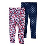 Toddler Girl Carter's 2-Pack Floral & Polka Dot Leggings