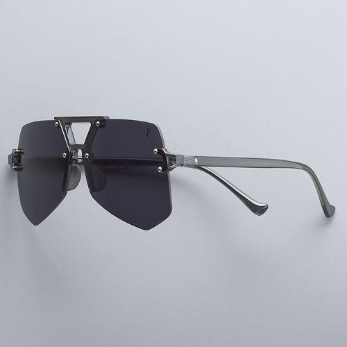 Simply Vera Vera Wang Kameron 57mm Plastic Hexagonal Aviator Sunglasses by Simply Vera Vera Wang