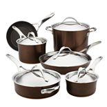 Anolon Nouvelle 11-pc. Copper Luxe Hard-Anodized Nonstick Cookware Set