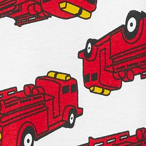Baby Boy Carter's Fire Truck Zip Footed Pajamas