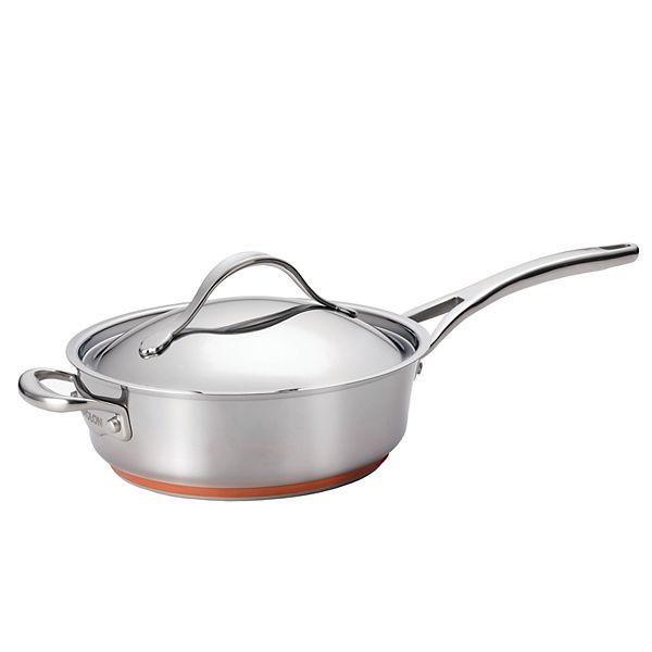 Anolon Nouvelle Copper Stainless Steel 3 Qt Sauté Pan With Helper Handle