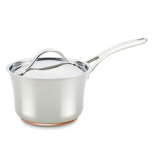 Anolon Nouvelle Copper Stainless Steel 3 5 Qt Saucepan