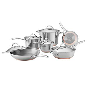 Anolon Nouvelle Copper Stainless Steel 11-pc. Cookware Set