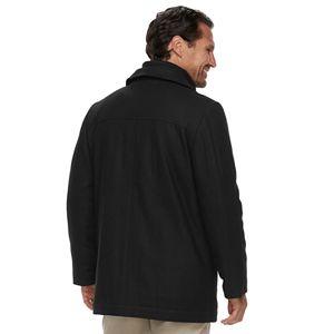 Big & Tall Ike By Ike Behar Upton Hip-Length Wool-Blend Bibbed Car Coat