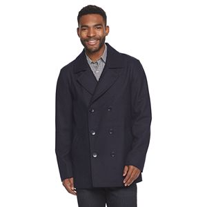 Big & Tall Ike Behar Abrams Wool DB Peacoat