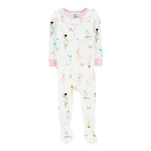 Toddler Girl Carter's Ballerina Zip Footed Pajamas