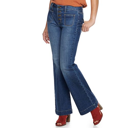 Women's SONOMA Goods for Life™ High Rise Wide Leg Jeans