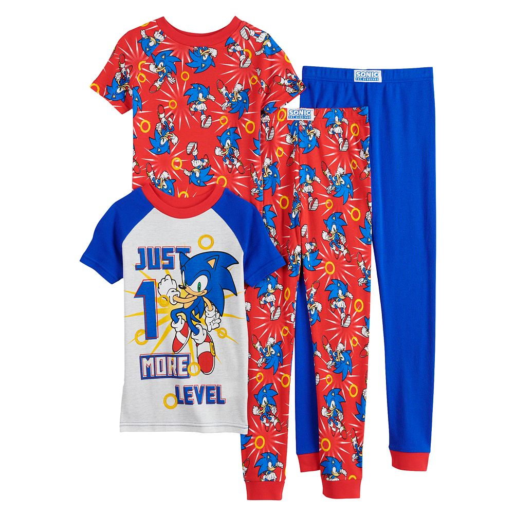 Boys 4-10 Sonic the Hedgehog Tops & Bottoms Pajama Set