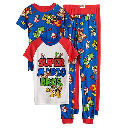 Boys 4-10 Nintendo Mario Tops & Bottoms Pajama Set