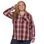 Plus Size EVRI Button-Down Shirt