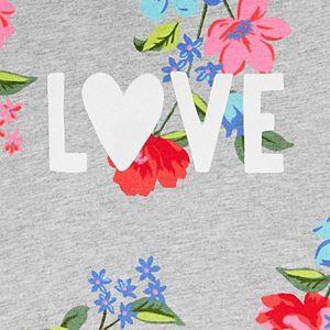 "Toddler Girl Carter's Floral ""Love"" Hooded Peplum Top"