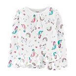 Toddler Girl Carter's Mermaids & Unicorns Ruffle Tee