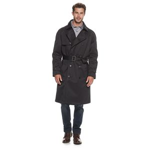 Men's Ike Behar Traditional Heavyweight Trench Coat