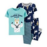 Toddler Boy Carter's 4 Piece Llamas Pajama Set