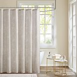 Madison Park Nowell Cotton Printed Shower Curtain