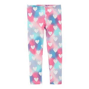 Toddler Girl Carter's Rainbow Heart Leggings