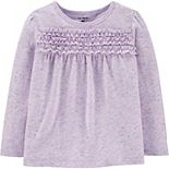 Toddler Girl Carter's Ruffled Jersey Top