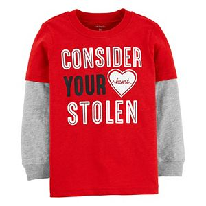 Toddler Boy Carter's Valentine's Day Mock Layer Graphic Tee