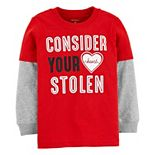 Baby Boy Carter's Valentine's Day Mock Layer Slubbed Graphic Tee