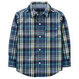 Baby Boy Carter's Plaid Poplin Button-Front Shirt