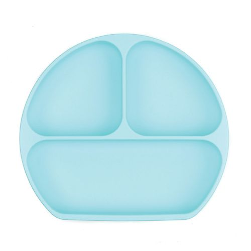 Bumkins Blue Silicone Suction Toddler Plate