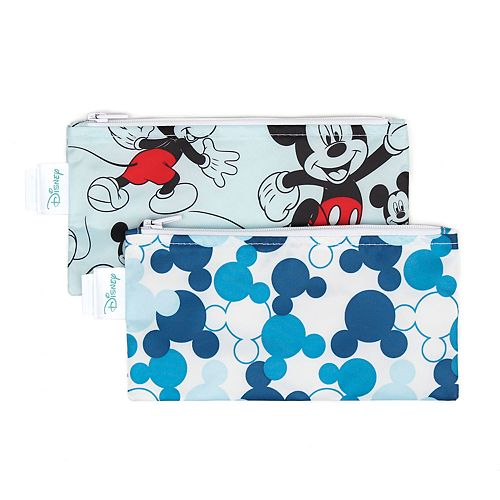 Bumkins Mickey Mouse Reusable Snack Bag 2-Pack Set