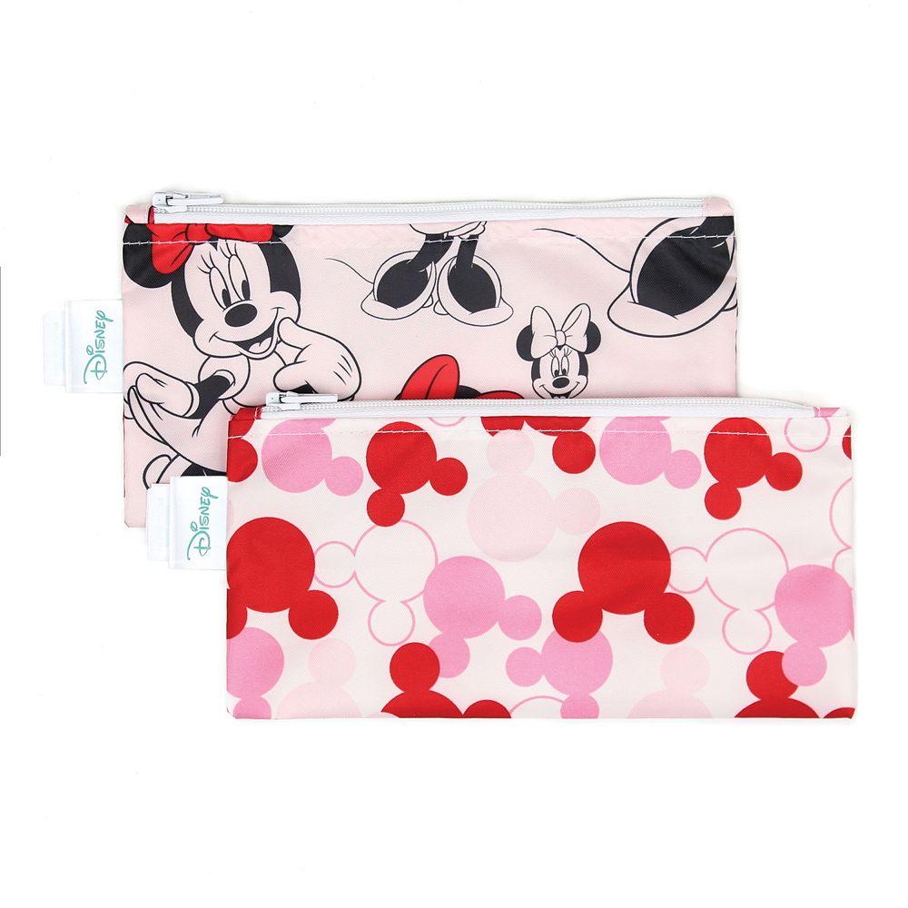 Bumkins Minnie Mouse Reusable Snack Bag 2-Pack Set