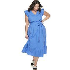 Plus Size POPSUGAR Belted Maxi Dress