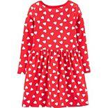 Girls Carter's Heart Tie-Front Jersey Dress