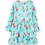 Girls 4-12 Carter's Floral Ruffle Dress
