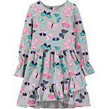 Girls 4-14 Carter's Butterfly Ruffle Jersey Dress
