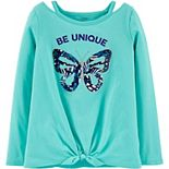 Girls 4-12 Carter's Butterfly Tie-Front Jersey Tee