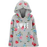 Girls 4-12 Carter's Floral Love Hooded Tee