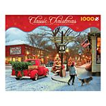 Classic Christmas Route 66 Street Corner 1,000-Piece Puzzle by Ceaco