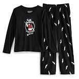 Girls 7-16 Jammies For Your Families Santa's World Tour Top & Bottoms Pajama Set