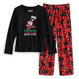 Girls 7-16 Jammies For Your Families Christmas Game Over Top & Bottoms Pajama Set