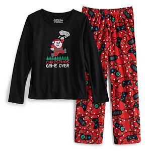 Girls 7-16 Jammies For Your Families Christmas Game Over Top & Bottoms Pajama Set