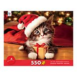 Avanti Christmas Kitten with Gift 550-Piece Puzzle by Ceaco