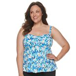 Plus Size A Shore Fit Plus Waterfall Top