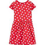 Girls 4-14 Carter's Heart Tie-Front Jersey Dress
