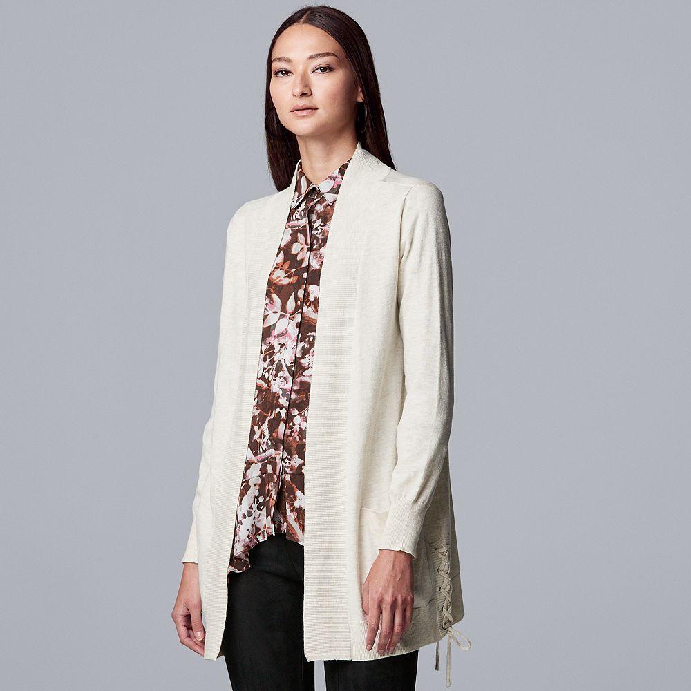 Women's Simply Vera Vera Wang Lace Up Cardigan